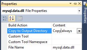 Visual Studio Copy dll To Output Folder